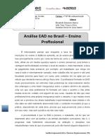 Análise EAD No Brasil - Ensino Profissional, GE e to.