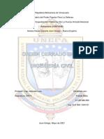 Importancia Del Orden Cerrado en La Ingeniería Civil. Freddy Mata 5to Semestre
