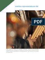 Instrumentos representativos del Perú