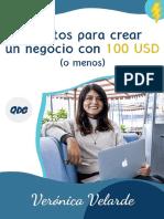 Secretos Para Crear Un Negocio Con 100 USD - Verónica Velarde