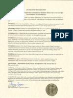 Legislative Proclamation - Mark Kelly Arizona