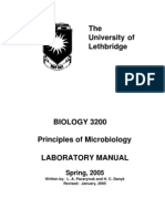 Lab microbiology manual
