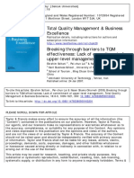 Total Quality Management & Business
