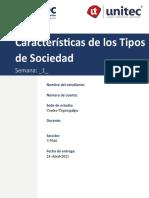 T. 1.1  Caracteristicas de los tipos de sociedad