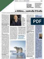 Il mare si alza e Urbino... controlla il livello - Il Resto del Carlino del 16 giugno 2021