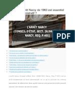 En quoi l'arrêt Narcy de 1963 est-il important en droit administratif ?
