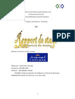 rapport de stage (Cosumar) - Fabrication Mécanique