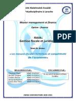 rapport mesures fiscales incitatives et compétitivité de l'économie résumé(2)
