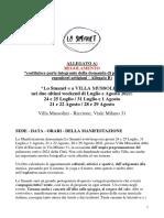 Regolamento Di Partecipazione Espositori Artigiani + Domanda allegato B