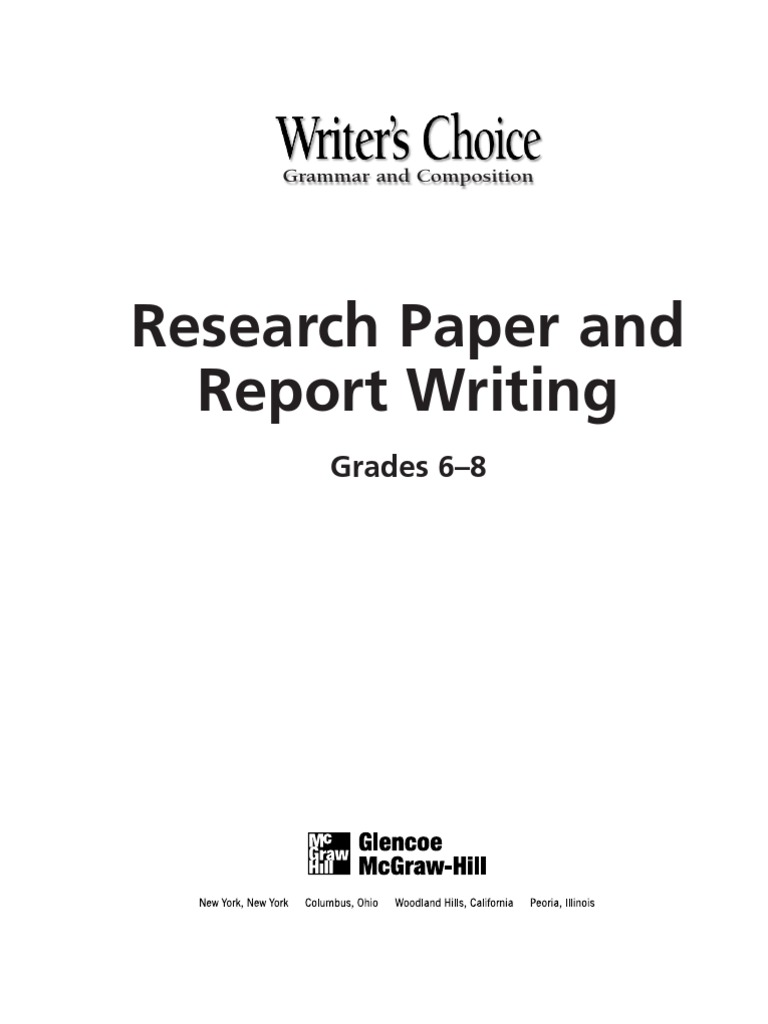 sixth grade research paper Choosing good research paper topics for 6th graders by the time students have reached 6th grade, they have a vast working knowledge of many different topics and issues that are important both at home and throughout the globe.