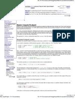 Basic Input Output - C++ Documentation