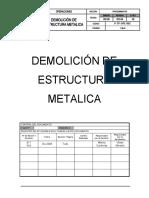 P-TP-OPE-002 Demolicion de estructura metalica