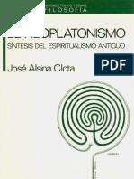 Alsina Clota Jose - El Neoplatonismo