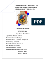 Practica N°4 Capacitores dielectricos Orlando Santiago Medrano Pallares