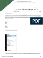 Come trovare l'indirizzo IP del proprio Router TP-Link_