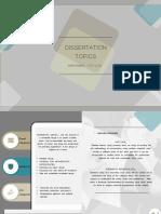 dissertation topics ideas (Interior Designing)