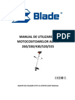 MAnual Motocositoare Blade Alpin