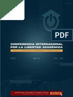 19.05 - AGENDA PRELIMINAR - CONFERENCIA INTERNACIONAL POR LA LIBERTAD ACADEMICA