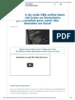 Explication du code VBA utilisé dans le tutoriel Créer un formulaire personnalisé pour saisir des données sur Excel - Votre Assistante