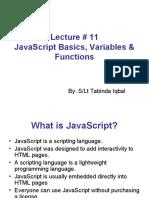 Lec -- 11 Javascript Basics - Variables - Functions