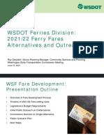 WSDOT - 2021/2022 Ferry Fare Change WSTC Presentation