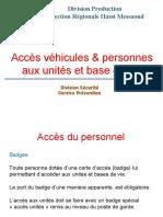 01.Présentation Acces véhicules et personnes
