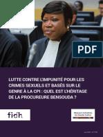 Lutte contre l'impunité pour les crimes sexuels et basés sur le genre à la CPI