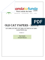 Handa Ka Funda - Old CAT Papers - Maths