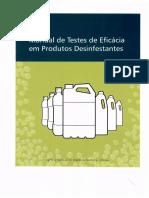 Manual de testes de eficácia em produtos desinfestantes