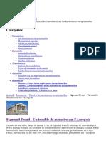 Sigmund Freud - Un trouble de mémoire sur l'Acropole - CIRCEE