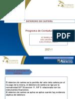 DETERIORO DE CARTERA DIAPOSITIVAS