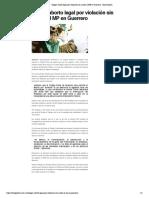 28/09/2019 Exigen aborto legal por violación sin acudir al MP en Guerrero - Bajo Palabra