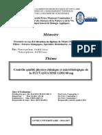Contrôle Qualité Physico-chimique Et Microbiologique de La FLUVASTATINE LDM 80 Mg (1)