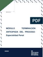 Esp. Penal - Módulo 2 - Terminación Anticipada del Proceso