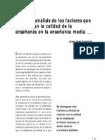 Analisis Factores Calidad Educacion - Tarbiya Aparicio