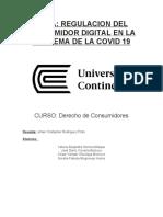 Tema Regulación Del Consumidor Digiital en La Pandemia de La Covid 19