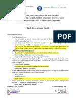 Managementul Situaţiilor de Criză În Mediul Educaţional -Test- Butescu Ionela