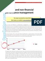 Financial vs non financial performance management