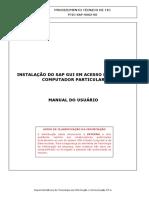Manual de Instalação Do SAP GUI Em Acesso Remoto