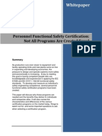Personnel functional safety certification