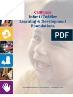 Infant/Toddler Learning Development Foundations (California Dept. of ED)