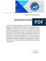 Comunicado de Prensa UTA (1)