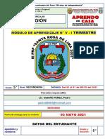 MODULO 05 - ED. RELIGIÓN - 5° SEC.