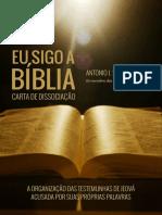 Eu Sigo a Biblia - Carta de Dissociação