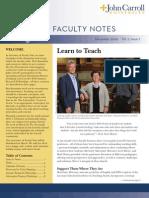 John Carroll University Faculty Notes December 2009