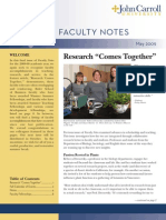 John Carroll University Faculty Notes May 2009