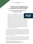Relationship between Critical Thinking DispositionsPerceptionsTowardsTeachers