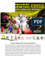 Generalidades Curso de Administracion y Legislacion Deportiva