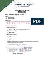 PRIMARIA Y SECUNDARIA - REGISTRO AUXILIAR 1ER BIMESTRE - CRITERIOS DE EVALUACIÓN