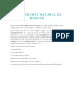 DESODORANTE NATURAL DE ROUPAS